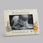 The Lord Loves Them All - Baby Picture Frame