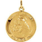 14kt Yellow 18mm St. Anthony Medal