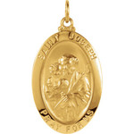 14kt Yellow 23x16mm St. Joseph Oval Medal