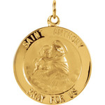 14kt Yellow 22mm St. Anthony Medal thumbnail 1