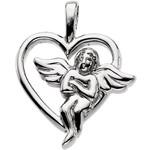 14kt Yellow Angel Heart Pendant