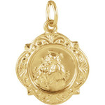 14kt Yellow Gold 12.14x12.09mm St. Anthony Medal