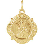14kt Yellow Gold 12.14x12.09mm Our Lady of Perpetual Help Medal