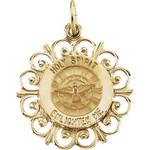 14kt Yellow Gold 18.5mm Holy Spirit Medal