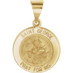 14kt Yellow Gold 15mm St. George Medal thumbnail 1