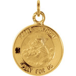 14kt Yellow Gold 12mm St. Anthony Medal