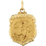 14kt Yellow 16.5x14.25mm St. Michael Medal