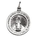 14kt White 14.75mm Miraculous Medal