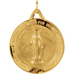 14kt Yellow 25mm Miraculous Medal