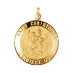 14kt Yellow 20mm St. Christopher Medal