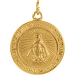 14kt Yellow 14.75mm Miraculous Medal