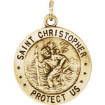 14kt Yellow Gold 18mm Reversible St. Christopher/U.S. Army Medal thumbnail 1