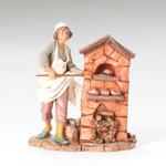 "Fontanini Darius The Baker Figure 12"" Scale"