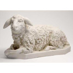 Nativity Sheep Looking Left Statue