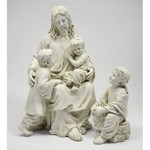 Jesus With Children Statue thumbnail 1