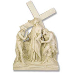 Stations of the Cross Statues, Antique Stone Finish thumbnail 2