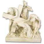 Stations of the Cross Statues, Antique Stone Finish thumbnail 3