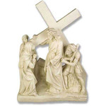 Stations of the Cross Statues, Antique Stone Finish thumbnail 4