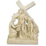 Stations of the Cross Statues, Antique Stone Finish thumbnail 6