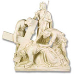 Stations of the Cross Statues, Antique Stone Finish thumbnail 7
