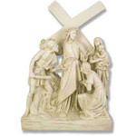 Stations of the Cross Statues, Antique Stone Finish thumbnail 8