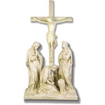 Stations of the Cross Statues, Antique Stone Finish thumbnail 12