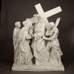 Stations of the Cross Large Statues, Antique Stone Finish