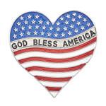 God Bless America Heart Shaped Visor Clip