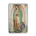 Laminated Our Lady of Guadalupe Prayer Card with Medal