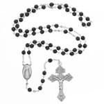 Divine Mercy Garnet & Sterling Rosary