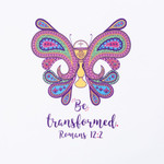 """Be Transformed"" Butterfly Pillowcase"