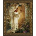 Christ at Heart's Door w/ Gold Frame thumbnail 1