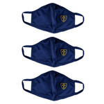 Navy Face Mask with Cross (Pack of 3)