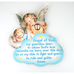 Guardian Angels Watching Over Baby Boy Plaque