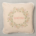 Personalized Christmas Wreath Pillow