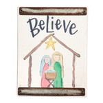 Believe Christmas Block Sign