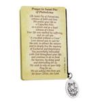 St. Pio Folded Prayer Card with Medal