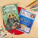 Stories of the Saints & Light of Heaven Saints Coloring Book (2 Book Set)