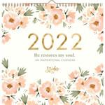 2022 He Restores My Soul Watercolor Spiral Calendar
