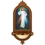 """Divine Mercy Holy Water Font - 15"""""""