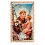 St. Anthony Patron Saint Prayer Card w/ Medal  thumbnail 1