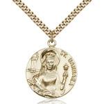 14kt Gold Filled St. Barbara Pendant