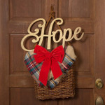 """Gold Holiday Wood Cut Out """"Hope"""""""