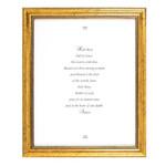 Hail Mary Prayer Gold Framed Print