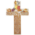 "10"" Resin Kitchen Prayer Cross"
