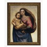 Home Goods,Sistine Madonna & Child in Gold Frame