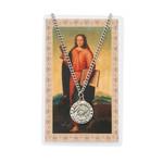 St. John Patron Saint Prayer Card w/Medal