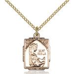 14kt Gold Filled St. Cecilia Pendant