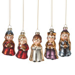 5pc Glass Nativity Pageant Ornaments thumbnail 3