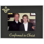 Black Personalized Confirmation Black and Gold Metal Frame  4x6